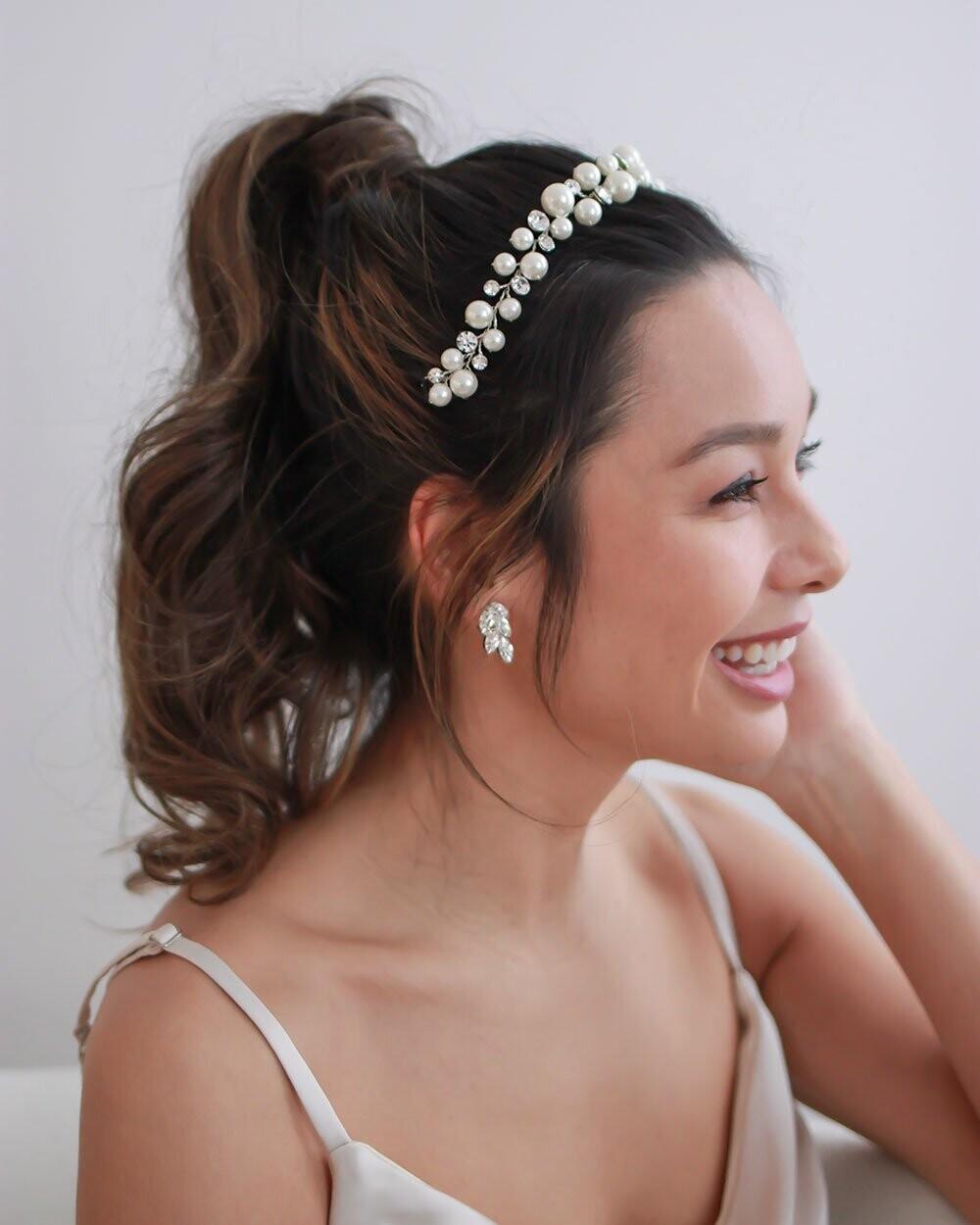 Modern Pearl/Crystal Headband