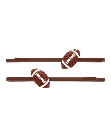 Sparkly Football Hair Pins