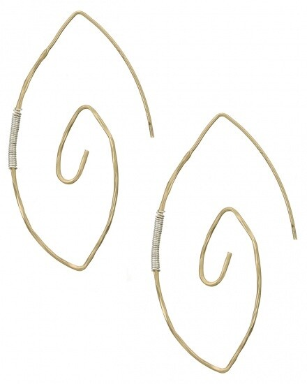 Wired Metal Dangle Earring Set
