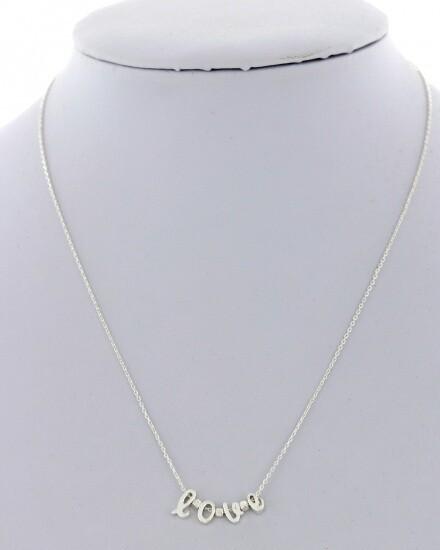 Silver Delicate Love Necklace