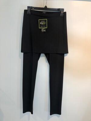 Black Soft Bamboo Knit Skirt With Leggings