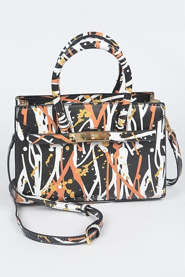 Paint Splatter Medium Cross Body Handbag