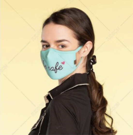 "C.C MASK Adult Reusable ""BE SAFE"""