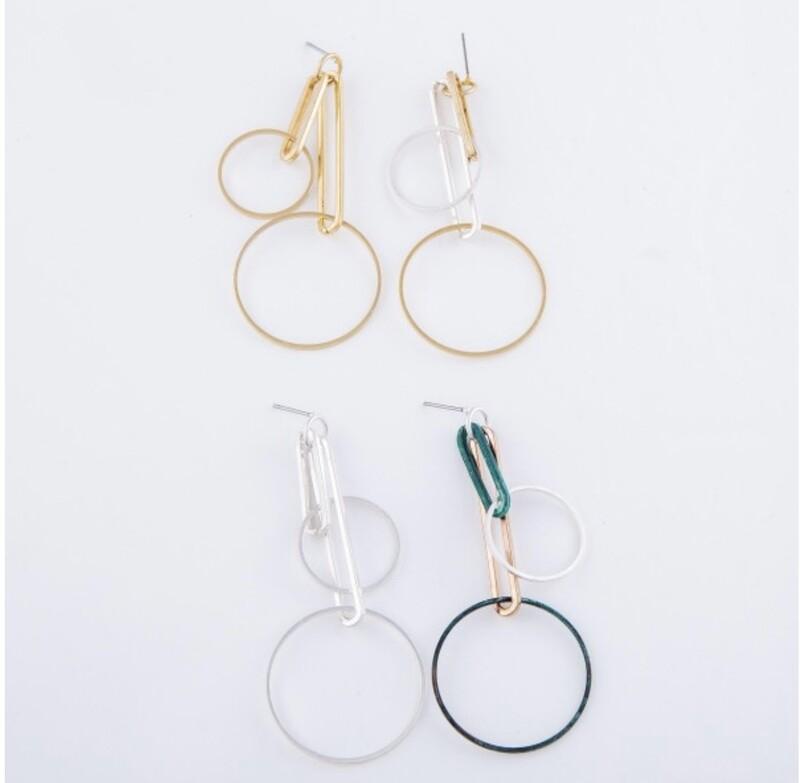 Geometric Linked Drop Earrings