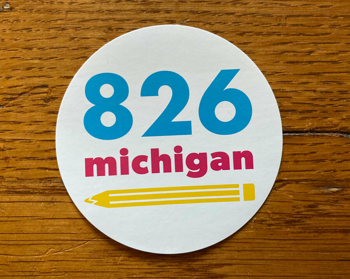 826michigan NEW logo sticker
