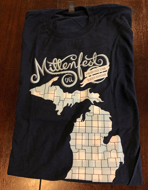 Mittenfest VII t-shirt (2012, navy blue)