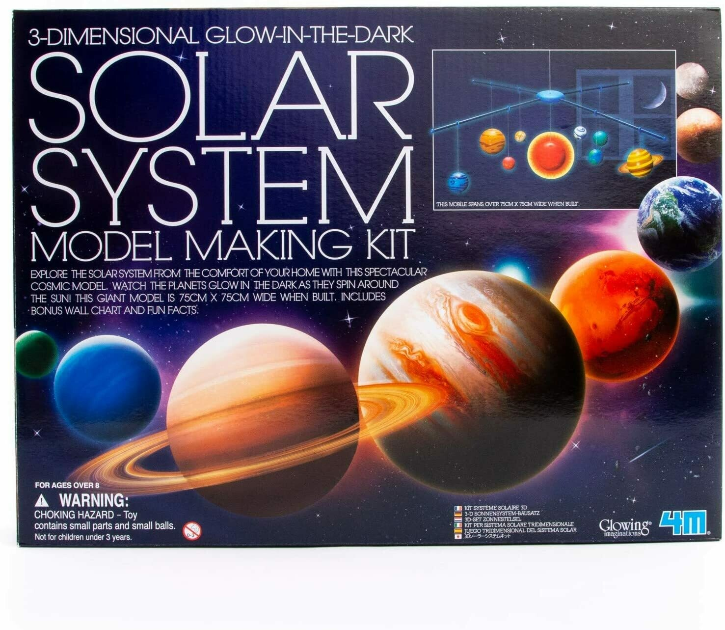 Solar System Model Making Kit - 3D Glow In The Dark