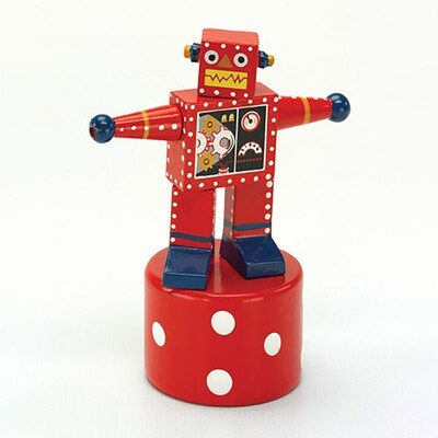 Robot Thumb Puppet - Red