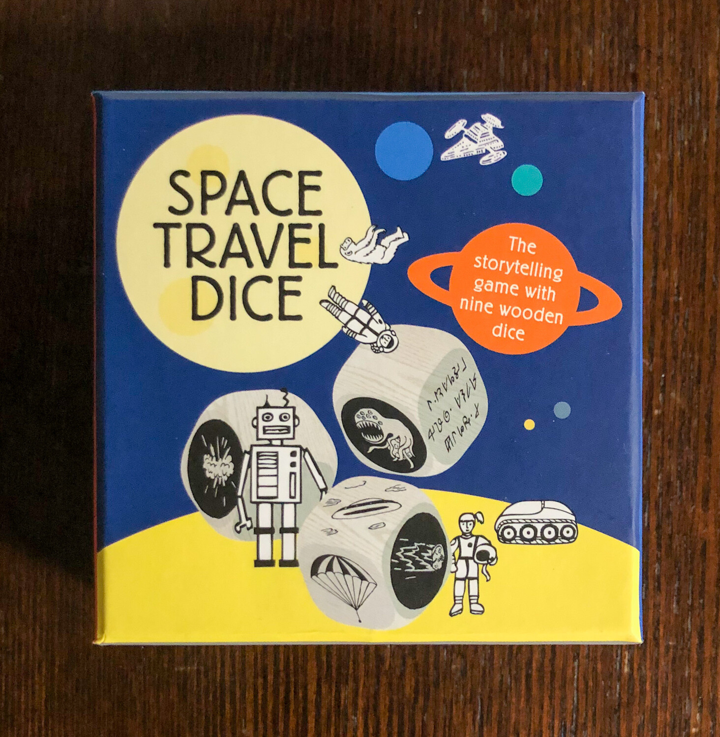 Space Travel Dice - 9 wooden dice
