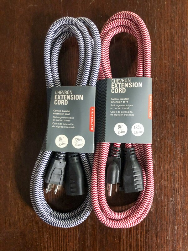 Chevron Braided Extension Cord - Kikkerland
