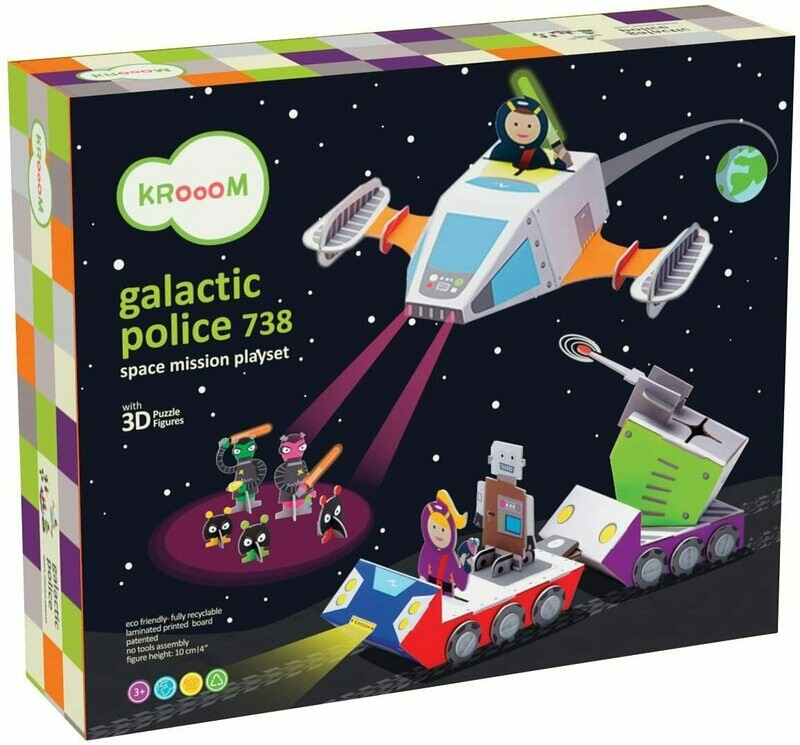 Galactic Police 738 - Space Mission Playset - KROOOM