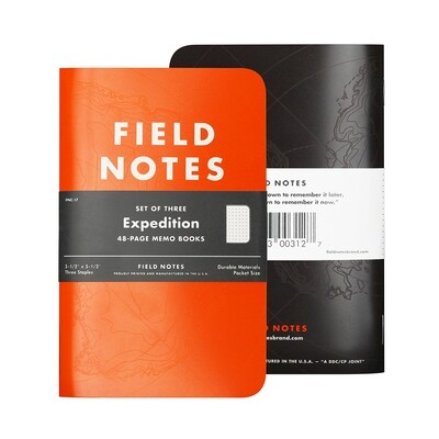 Field Notes Expedition - Waterproof Notebook - 3 Pack
