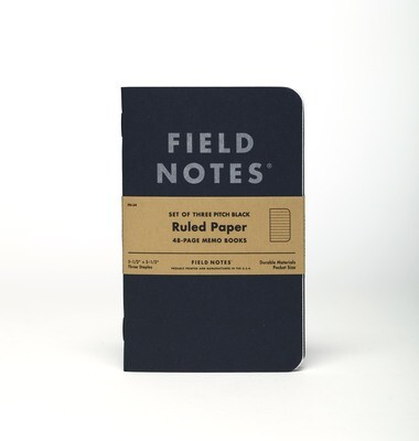 Field Notes Pitch Black Memo Book - 3 Pack