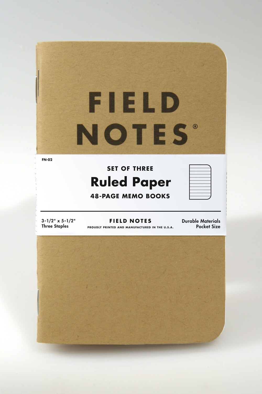 Field Notes - Original Kraft - 3 Pack