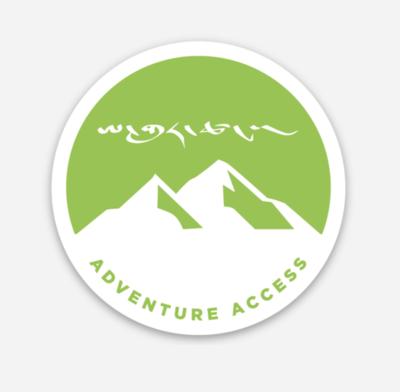Adventure Access Tent Life Sticker