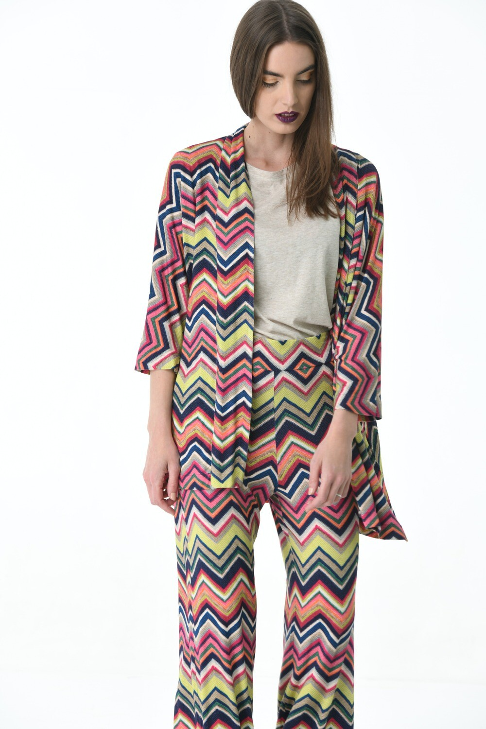 Zigzag Patterned Jacket