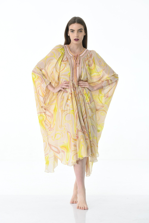 Floral Kaftan - Yellow