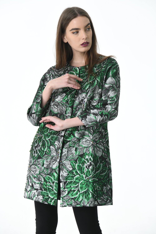 Full Green beaded Jacket