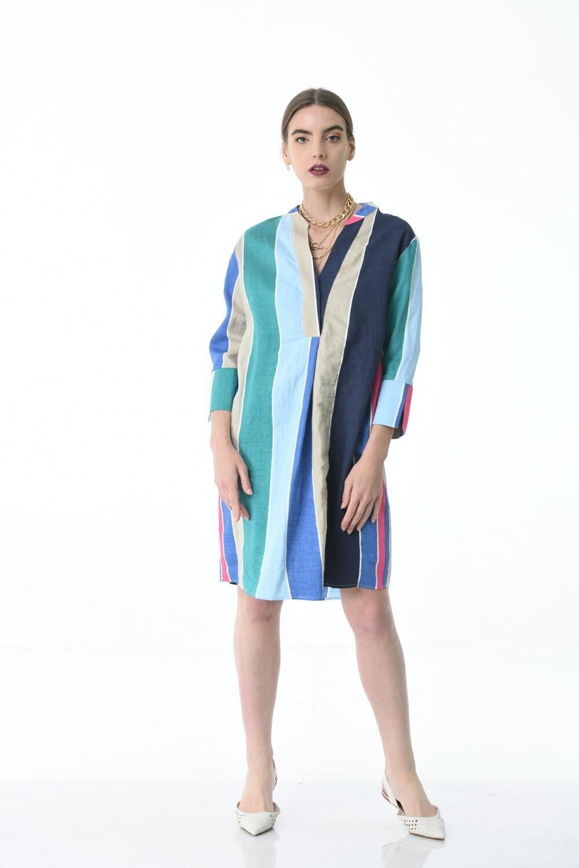 Wide Stripes Dress