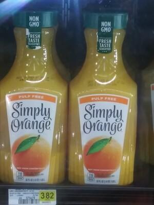 Cash Saver: Simply Orange Juice 52 fluid ounces