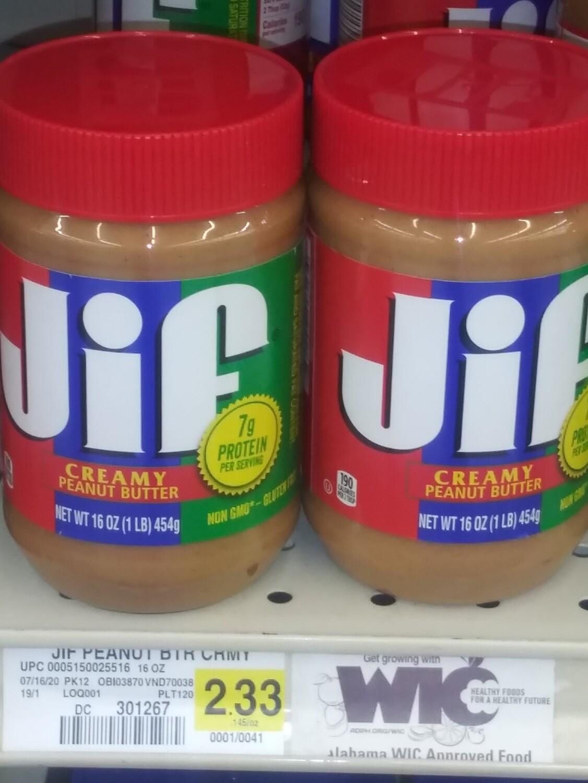 Cash Saver: JIF Creamy Peanut Butter (16oz)