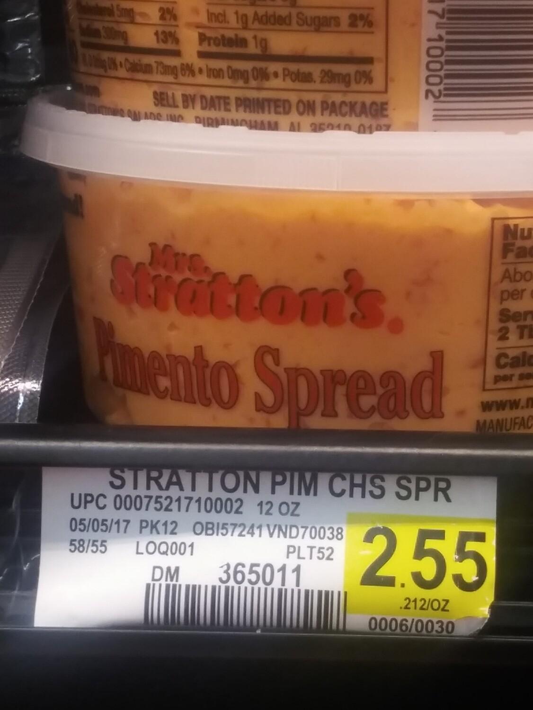 Cash Saver: Mrs.Stratton's Pimento Spread 120z