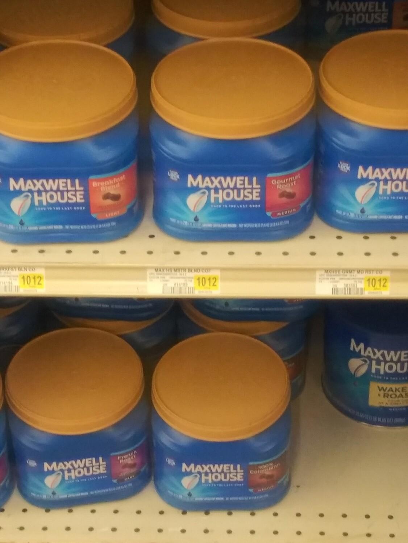 Cash Saver: Maxwell House 25fl.oz cans