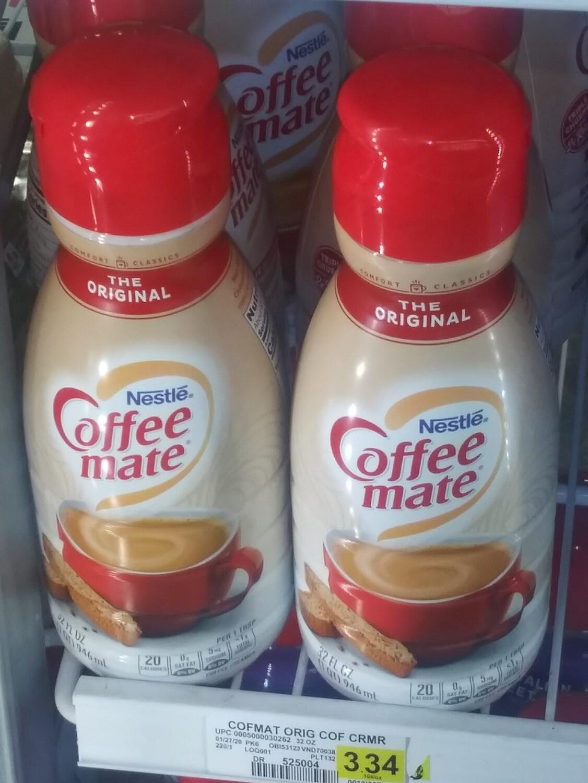 Cash Saver: Nestle CoffeeMate Creamer (Original, French Vanilla, Hazelton) 32fl oz