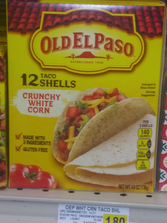 Cash Saver: Old El Paso Taco Shells Crunchy White Corn(12)