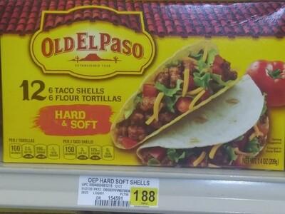 Cash Saver: Old El Paso 12- 6 Flour Shells, 6 FloorTortillas (Hard&Soft)
