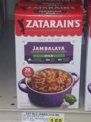 Cash Saver: Zatarain's Jambalaya Mix (Mild, Spicy, Dirty Rice) 8oz