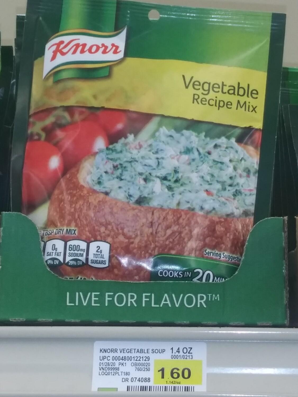 Cash Saver: Knorr Vegetable Recipe Mix