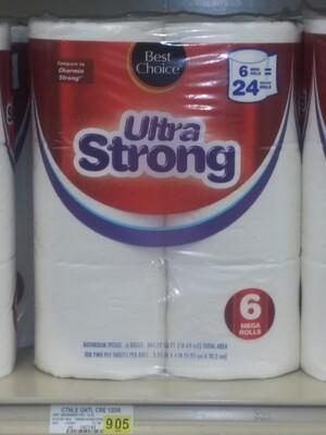 Cash Saver: Best Choice Ultra Strong Tissue 6 Mega Rolls