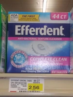 Cash Saver: Efferdent Anti-Bacterial Denture Cleanser 44count
