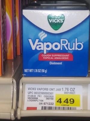 Cash Saver: Vicks Vapo Rub Ointment 1.76oz