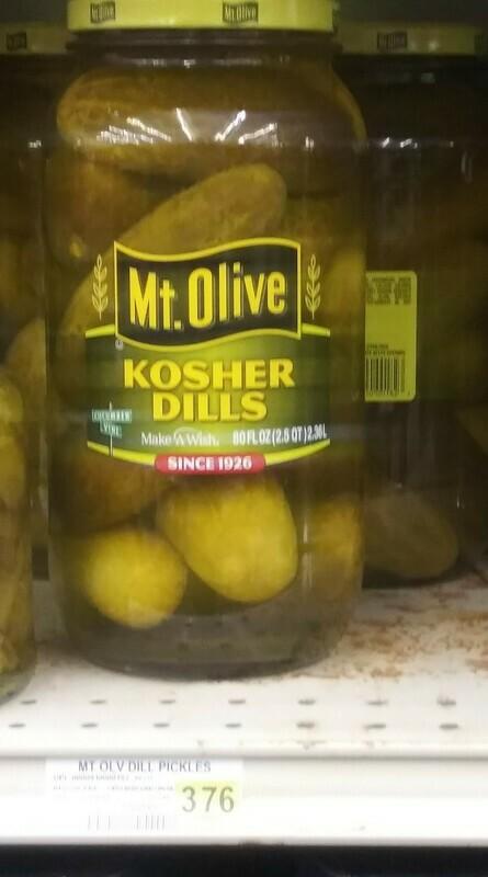 Cash Saver: Mt. Olive Kosher Dills 80fl oz