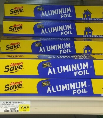 Cash Savers: Always Save Aluminum Foil 25ft