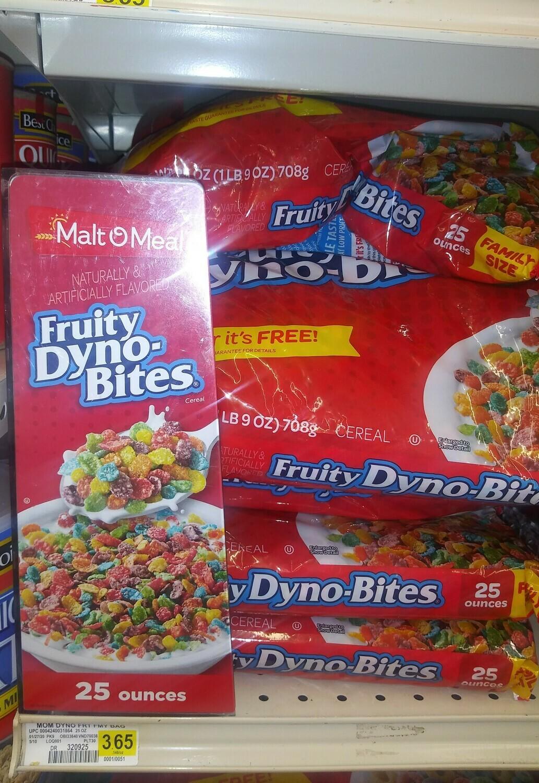 Cash Saver: Malt O Meal- Fruity Dyno-Bites Cereal 25 oz bag
