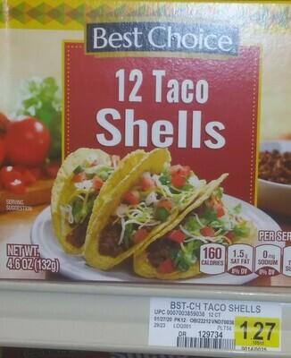 Cash Saver: Best Choice Taco Shells (12)