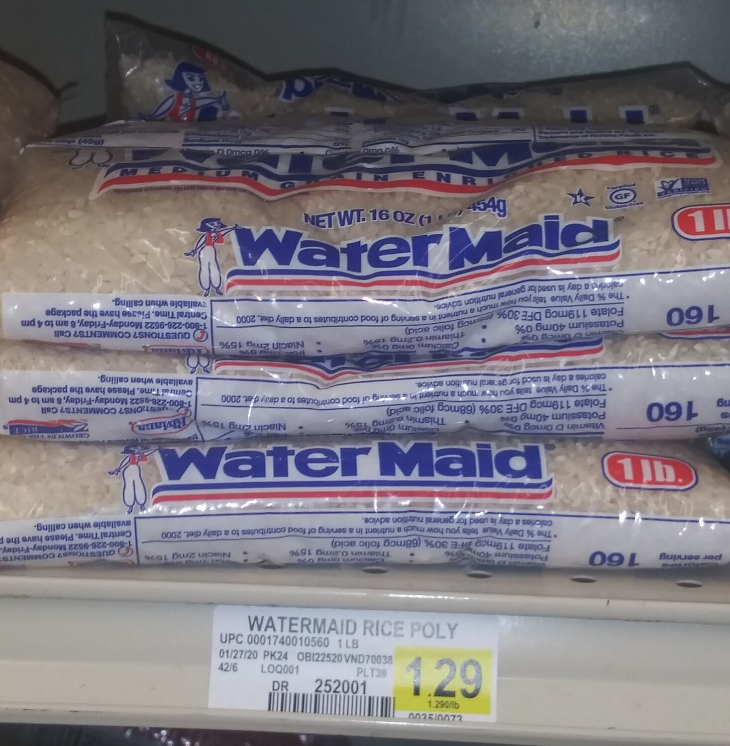 Cash Saver: Water Maid White Rice 1lb-3lb bags
