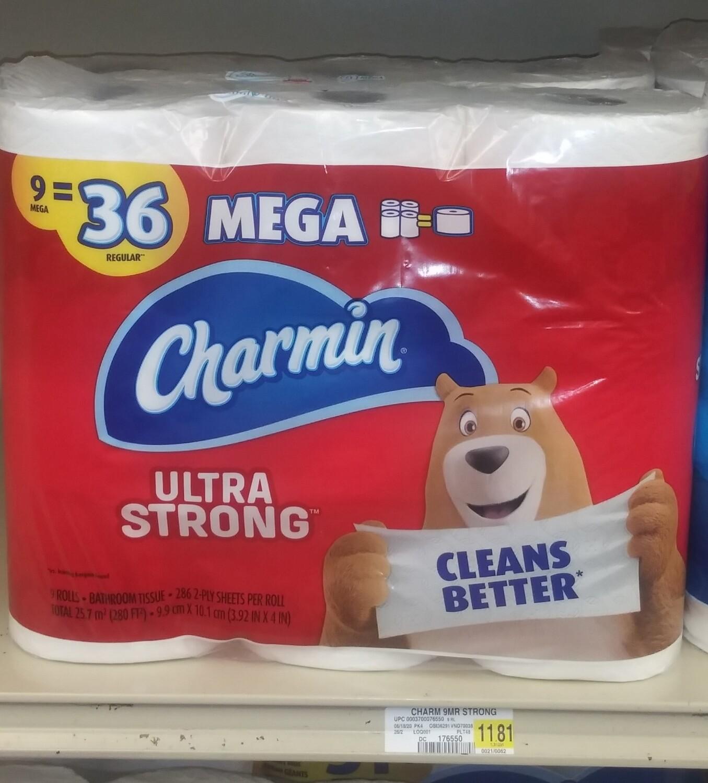 Cash Saver: Charmin Ultra Strong Tissue 9 Mega Rolls