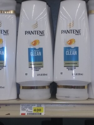 Cash Saver: Pantene Classic Clean Conditioner 12.6fl oz