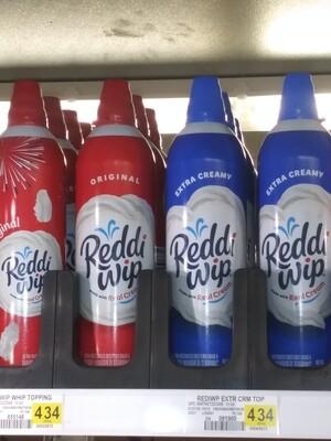 Cash Saver: Reddi Wip Whipped Cream 13oz (Original, Extra Creamy)