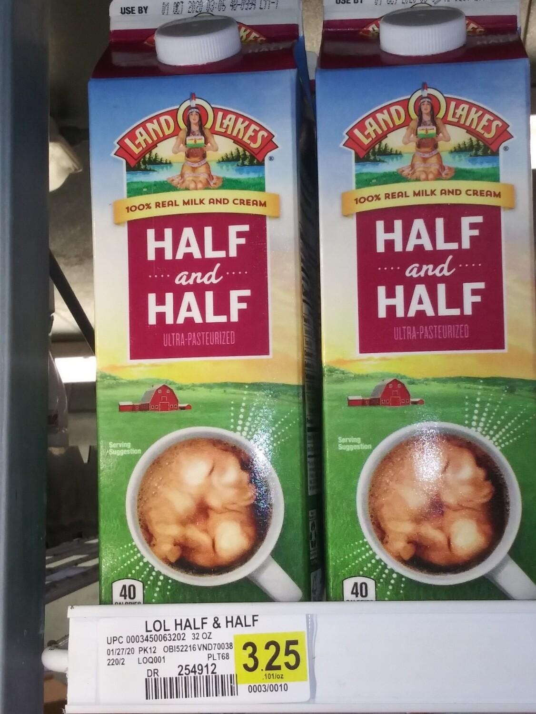Cash Saver: Half and Half 32oz