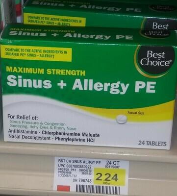 Cash Saver: Best Choice Sinus+Allergy PE 24 tablets
