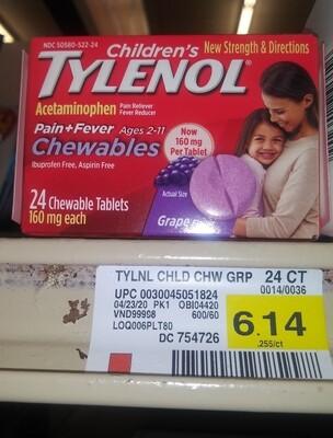 Cash Saver: Tylenol Chewables 24ct