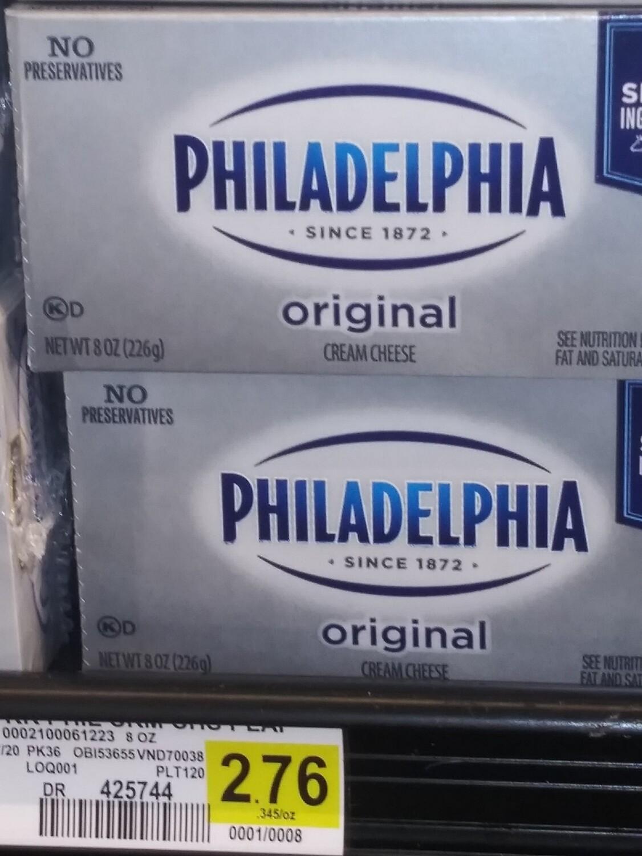 Cash Saver: Philadelphia Oringal Cream Cheese 8oz