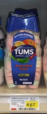Cash Saver: TUMS Antacid Assorted Fruit 96 chewable tablets