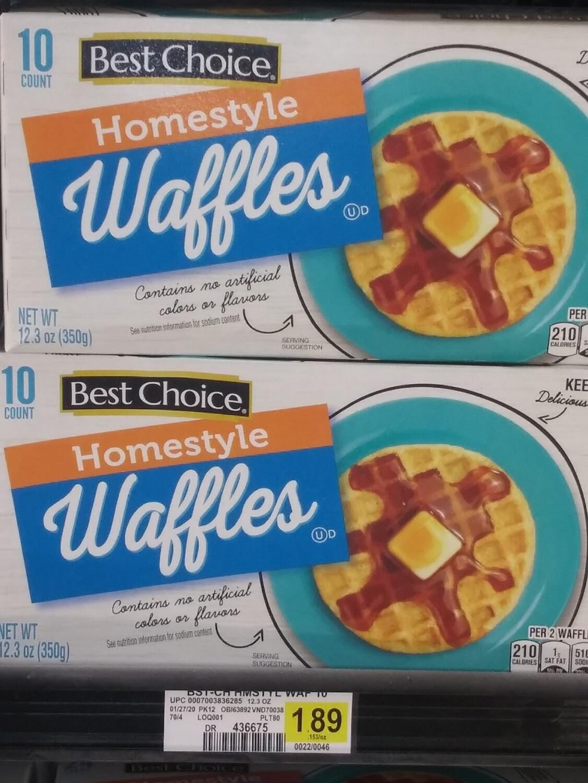 Cash Saver: Best Choice Waffles 12.3oz