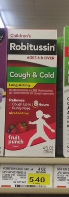 Cash Saver: Robitussin (Children) Cough&Cold 4fl oz